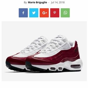 Nike Shoes - **SOLD** Air Max 95 Red Crush!! ♥️ NSW